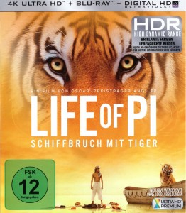 Life of Pi 4K Blu-ray Frontcover
