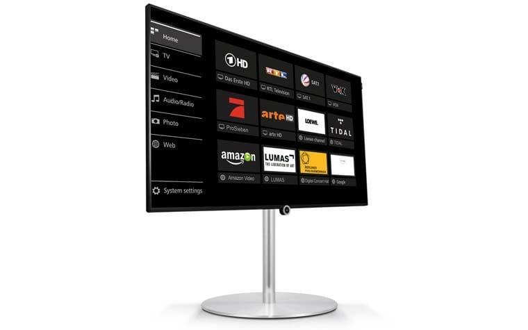 one loewe pr sentiert neuen 55 zoll 4k fernseher 4k filme. Black Bedroom Furniture Sets. Home Design Ideas