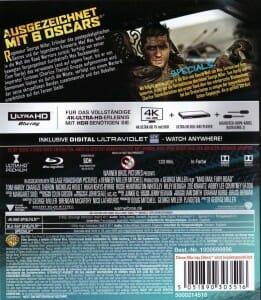 Mad Max Rückseite 4K Blu-ray