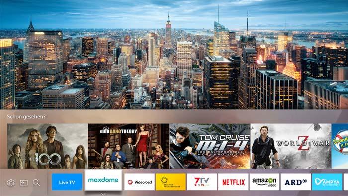 Schön aufgeräumt mit zweiter Auswahl-Ebene für Inhalte - Samsung Smart Hub 2016