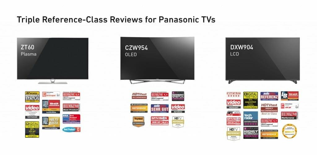 Der Referenz-Status war Panasonic gerade gut genug, egal ob bei Plasma, LCD oder OLED Fernsehern