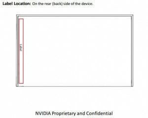 Die Skizze der Nvidia Shield 2 verrät die ungefähre Form der Konsole sowie den Ort andem das FCC Label angebracht werden muss
