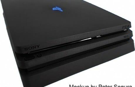 3D-Mockup der neuen Playstation 4 Neo