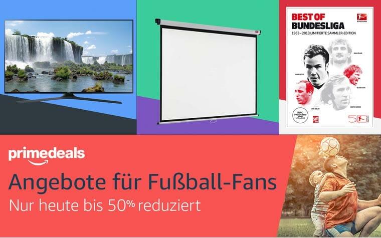 Bis zu 50 Prozent auf Fußball-Artikel, 4K Fernseher ab 349 Euro