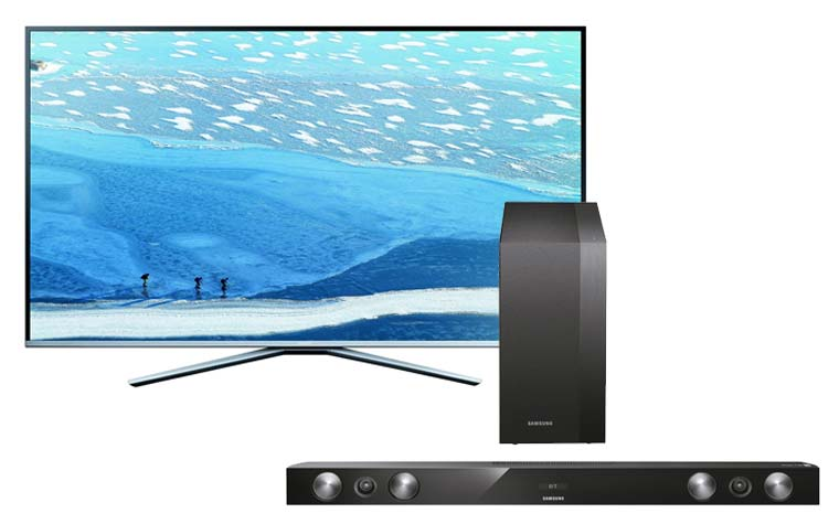 gratis soundbar beim kauf des samsung ue55ku6409 4k filme. Black Bedroom Furniture Sets. Home Design Ideas