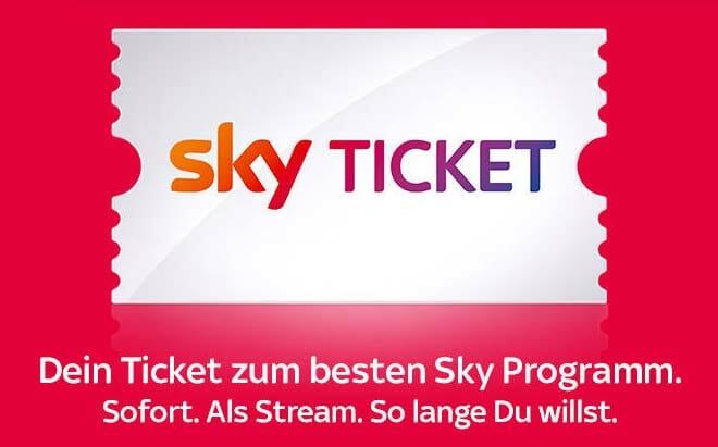 Mit den Sky Tickets lassen sich Inhalte wie Sport-Events, Filme und Serien einmalig
