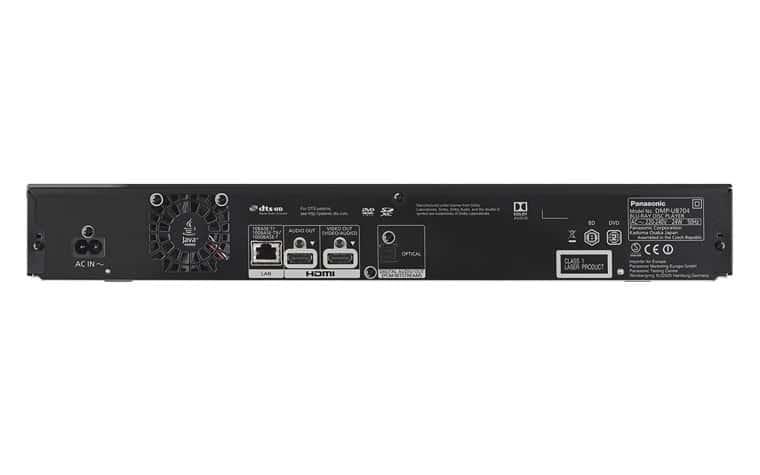 Anschluesse des Panasonic DMP-UB704EGK mit Twin-HDMI-Anschluss