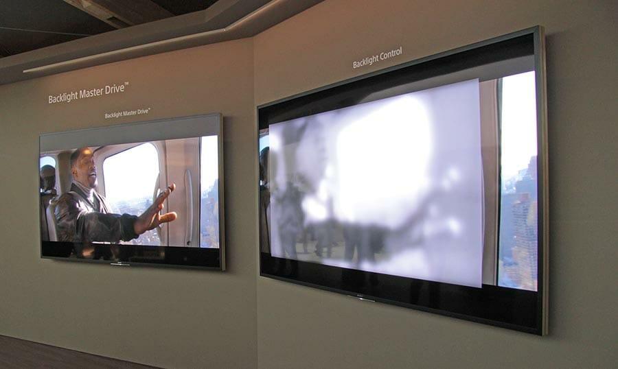 Am Stand von Sony auf der IFA gab es ein Demo-Gerät, dass die Funktion des Backlight Master Drive veranschaulicht (siehe auch unser Video am Ende des Beitrages)