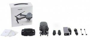 Der komplette Lieferumfang der DJI Mavic Pro 4K-Drohne