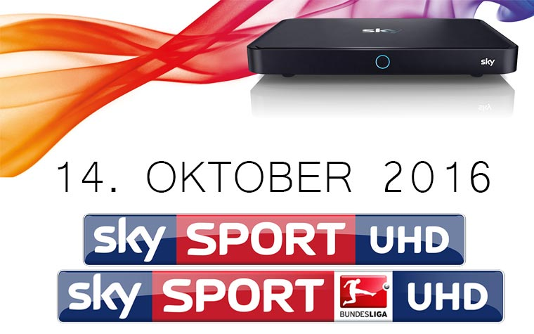 Sky UHD Bundesliga startet am 14. Oktober 2016