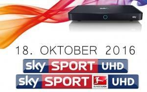 Sky Bundesliga UHD startet am 18. Oktober 2016