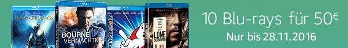 10 Blu-rays für 50 Euro