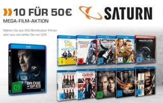 10 Blu-rays für 50 Euro-Aktion auf Saturn.de