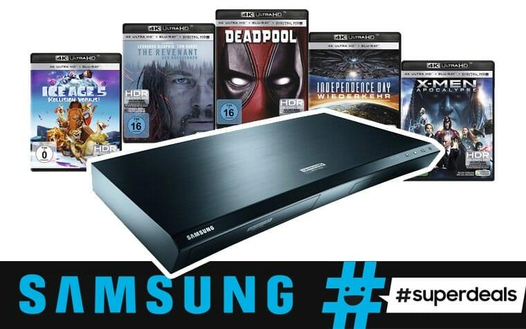 Samsung #Superdeals. 5 UHD Filme gratis beim Kauf eines 4K Blu-ray Players UBD-K8500