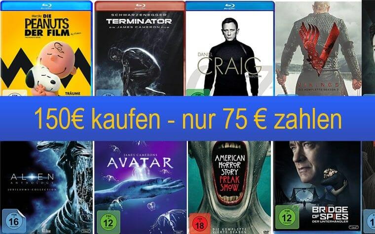 Amazon 50 Prozent auf Filme & Serien