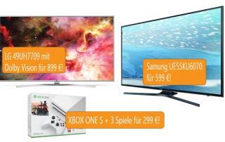 Angebote UHD TV mit Dolby Vision, Xbox ONE S zum Bestpreis
