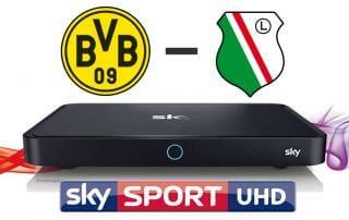 BVB gegen Legia Warschau in 4K UHD auf Sky