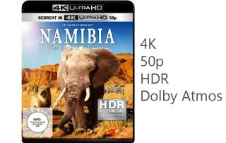 Namibia 4K Blu-ray mit HDR, 50p und Dolby Atmos