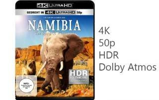 Namibia 4K Blu-ray mit HDR, 50p und Dolby Atmos