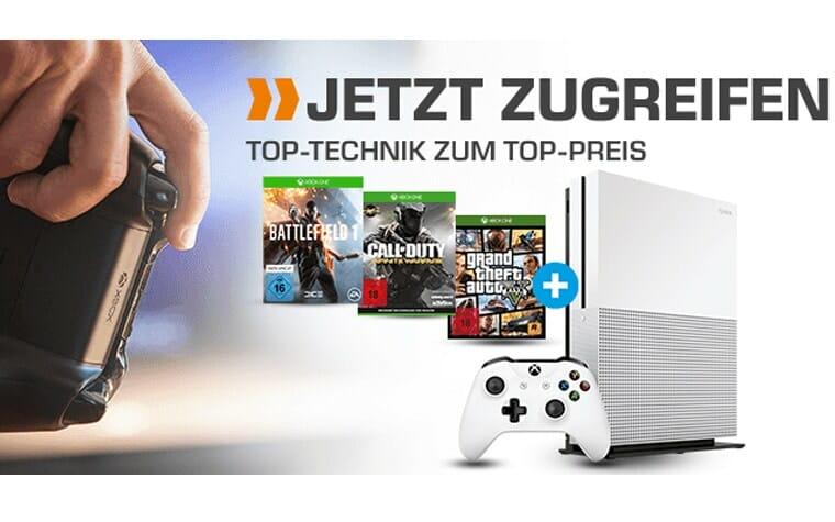 XBOX ONE S mit 4K Blu-ray Laufwerk und drei Spiele für nur 299 Euro