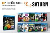 10 Blu-rays für 50 Euro Aktion