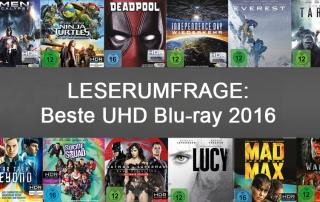 Leserumfrage: Beste UHD Blu-ray 2016!