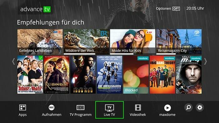 Advance TV 4K Kabel-Receiver