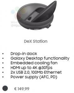 Aussehen und Ausstattung der DeX Station