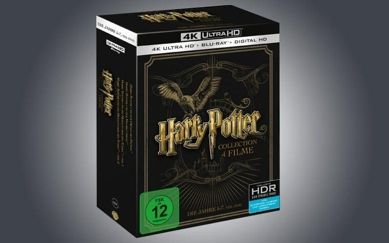 Harry Potter 5 bis 8 auf 4K Blu-ray in einer exklusiven 4 Filme Collection