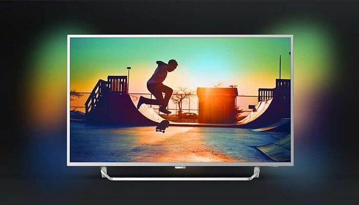 Philips 6412: Bereits der UHD-Einstieg kann mit HDR Plus und 2-seitigem Ambilight aufwarten!