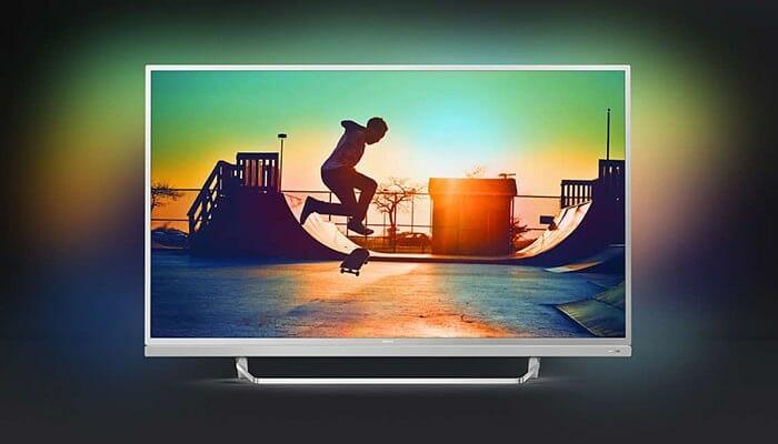 Die Philips 6482 Modelle gibt es mit 49 und 55 Zoll und liefern die beste Bildqualität innerhalb der 6000er Serie mit Premium Color und HDR Plus