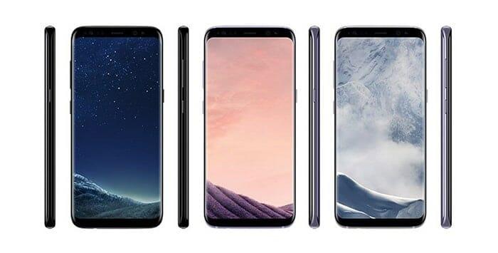 Hier einige Farbvariationen in denen die Galaxy S8 Smartphones erscheinen werden