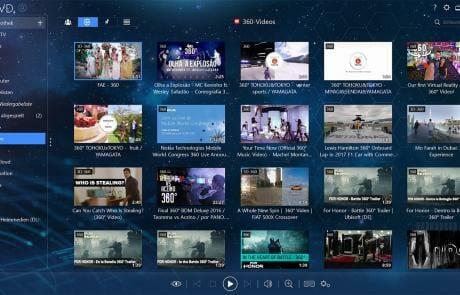 Mit der praktischen Filterfunktion lassen sich z.B. schnell alle 360° Youtube-Videos herausfiltern