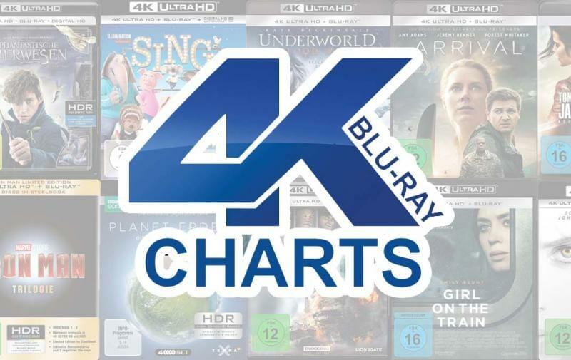4K Blu-ray Charts Kalenderwoche 14 / 2017