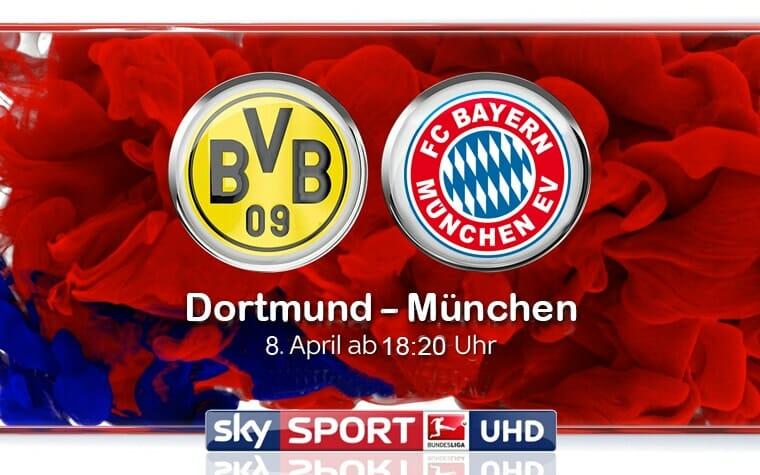 Borussia Dortmund gegen Bayern München live auf Sky Sport Bundesliga UHD