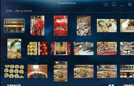Fotos werden intelligent in Alben zusammengezogen und können mit zusätzlichen Informationen versehen werden