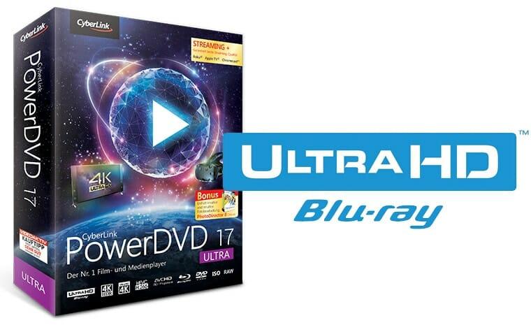 PowerDVD 17 Ultra von Cyberlink unterstütz 4K Blu-rays