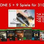 Xbox ONE S mit 9 Spielen für 310,- EUR!