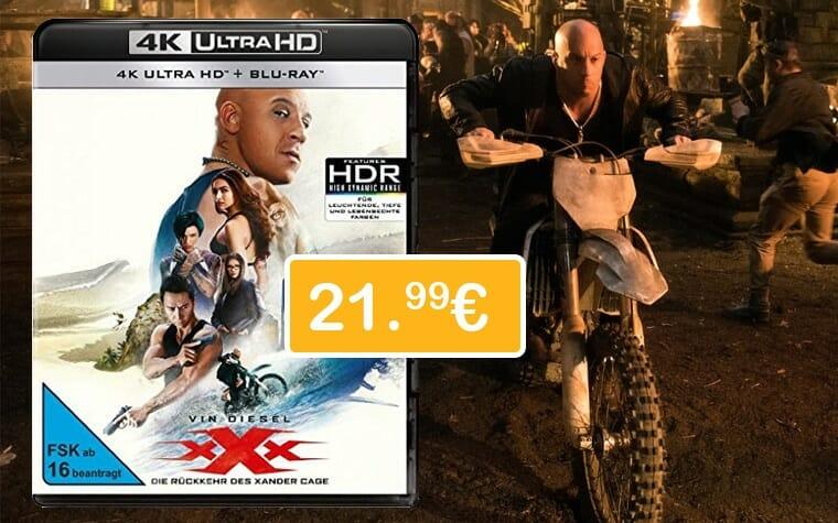 xXx - Die Rückkehr des Xander Cage für nur 21.99 Euro auf UHD Blu-ray