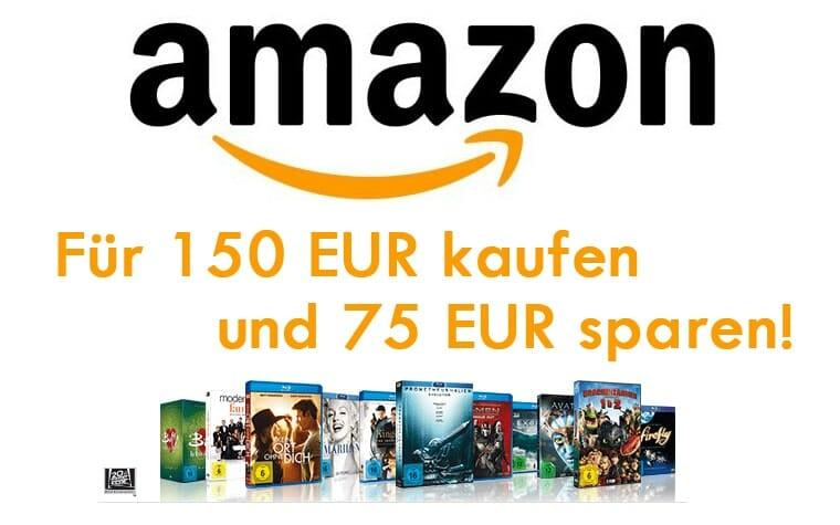 Für 150 EUR Filme, Serien und Box-Sets kaufen und nur 75 EUR zahlen!