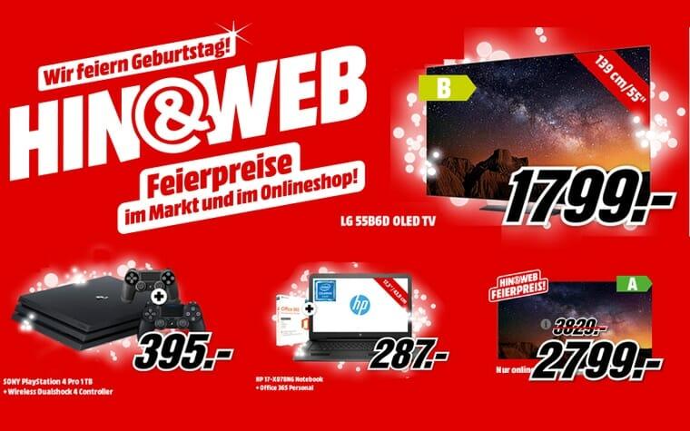 Geburtstags-Angebote auf Mediamarkt.de