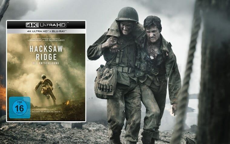 Hacksaw Ridge erscheint am 09. Juni 2017 auf 4K UHD Blu-ray