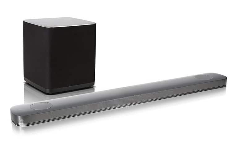 LG SJ9 Dolby Atmos Soundbar mit kabellosem Subwoofer
