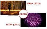 OLED B6 (2016) gegen B7 (2017)