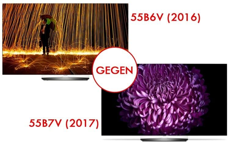 vergleich b6 b7 so verbessert lg seine oled fernseher 4k filme. Black Bedroom Furniture Sets. Home Design Ideas
