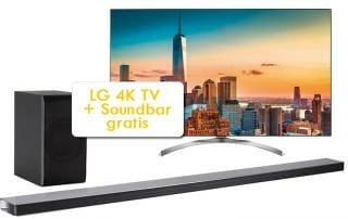 LG 4K Fernseher kaufen und Soundbar gratis abstauben