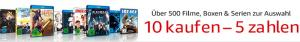 10 Kaufen 5 bezahlen Aktion auf Amazon.de