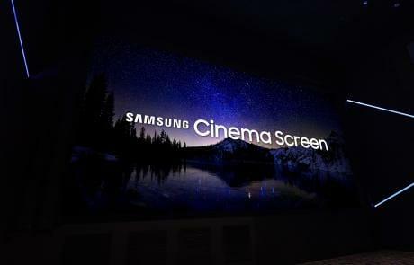 Die Cinema LED Displays sollen lt Auffassung von Samsung Electronics ab besten mit einem Soundsystem von JBL by HARMAN kombiniert werden.
