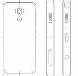 Skizze des Galaxy Note 8