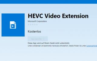HEVC Video Update für Windows 10 Geräte
